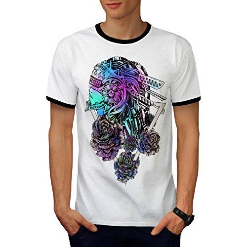 Kostüm Anzug Mech (Mech Stilvoll Rose Mode Blume Modus Herren M Ringer T-shirt |)