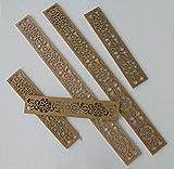 Verkauf durch ZAGORA 1X Stabile Dekorpaneele 500 x 100 x 10 mm MDF Platte Laserschnitt
