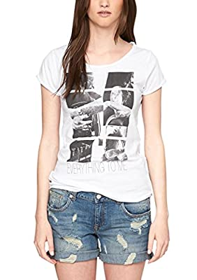 s.Oliver Denim Women's Mit Frontprint 49.505.32.8173 Short Sleeve T-Shirt