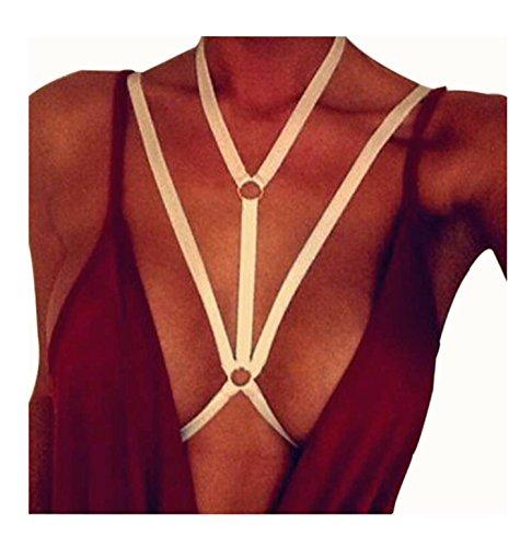 Add Health Damen Pentagramm Harness Strappy Geschirr Pentagramm Knechtschaft BH (XS, 002 (Beauty Perücke Schwarz Burlesque)