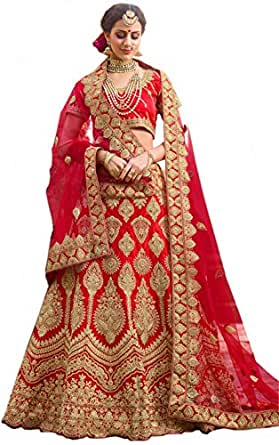 Globalia Creation embroidered semi stitched lehenga for women | womens Today preminum lehengas collection 2018 | lehenga choli for girls