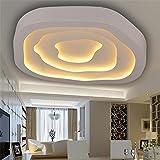Malovecf Moderne Deckenleuchten für Wohnzimmer Schlafzimmer Küche Lampe Acryl Lampenschirm weiß Eisen Home Lighting Fixture, D52 H10cm 36W LED