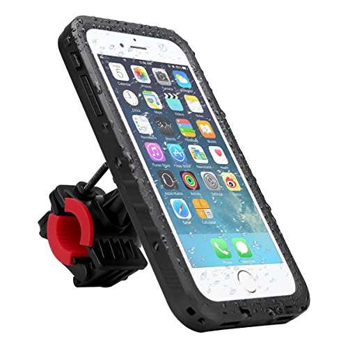 iitrust Funda Impermeable Soporte para bicicleta Case a Prueba de Agua,Golpes,Polvo,Waterproof Case para Iphone 7,color negro