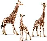 Schleich Giraffenfamilie - Bulle, Kuh und Baby 3er Set 14749 14750 14751