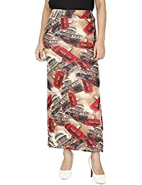 Franclo Women's City Print Skirt