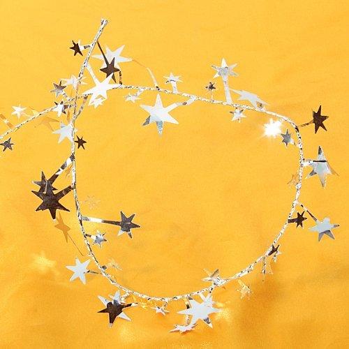 PRIMI 1Star Lametta Girlande Weihnachten Dekoration (Silber), ca. 7m