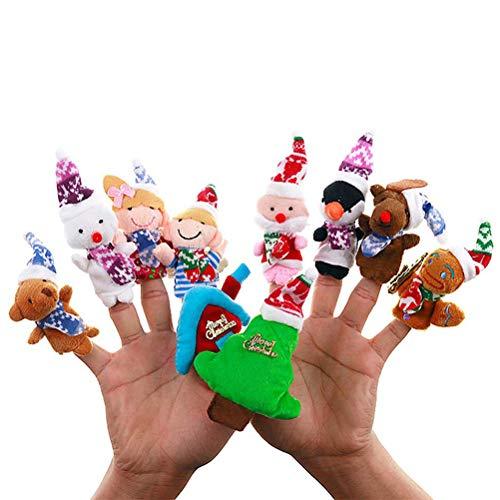 Makasy 10PCS Marionetas de Mano para niños