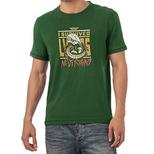 TEXLAB - Nevermind - Herren T-Shirt Flaschengrün