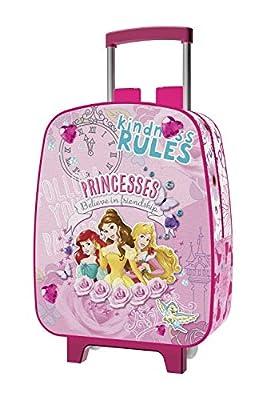 Jaimarc Princesas Disney Mochila Carro para Guardería, 28 x 24 cm, Color Rosa de Jaimarc