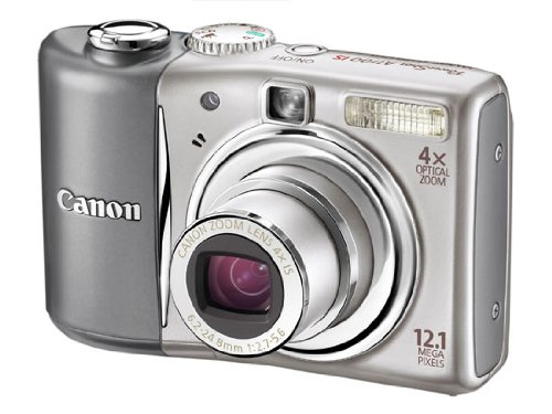 Canon PowerShot A1100 IS Digitalkamera (12 Megapixel, 4-fach opt. Zoom, 6,4 cm (2,5 Zoll) Display) Silver