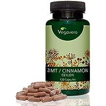 Extracto de canela (Ceilán) | 250 mg por cápsula - 120 cápsulas | 8:10 Extracto de corteza | Antioxidante - Trastornos Digestivos - Mejora el Colesterol - Afrodisíaco Natural | 100% vegetal | Vegavero