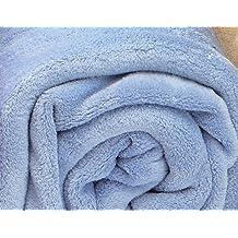 Burrito Blanco - Manta térmica Coralina lisa 01 azul de 230x240 cm