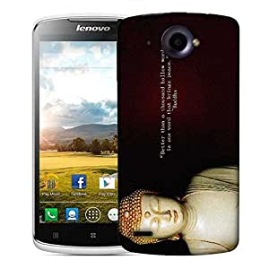 Snoogg Buddha Wallpaper Designer Protective Phone Back Case Cover For Lenovo S920