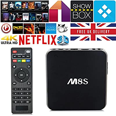 NTTEK ® M8S Quad Core Android TV Box Fully Loaded Kodi 15.2, Amlogic S812 2GHz, 2G/8G