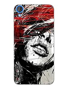 The Sketch - Designer Printed Hard Back Shell Case Cover for HTC 820 Superior Matte Finish HTC 820 Cover Case