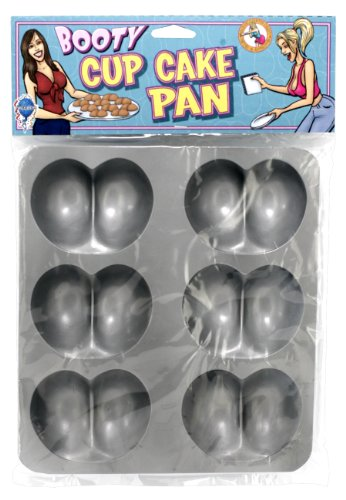 Backform für Cup Cakes in Popo-Form für 6 Cup Cakes