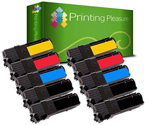 10 Toner kompatibel für Xerox Phaser 6130 6130N - Schwarz/Cyan/Magenta/Gelb, hohe Kapazität - Phaser 6130 Toner Cyan