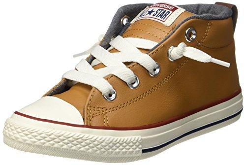 Converse Unisex-Kinder CTAS Street Mid Raw Sugar/Terra Red Hohe Sneaker, Braun (Mid Raw Sugar/Terra Red), 37 EU