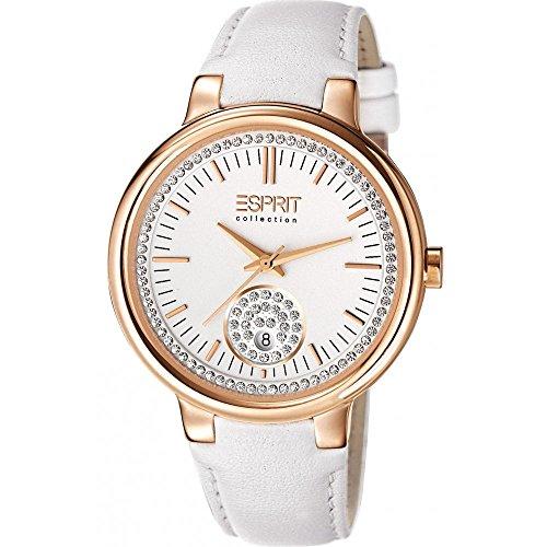 Maia Women'Esprit Store Herren-Armbanduhr 1725.1562 Analog-Anzeige und weiße Lederband EL101972F04