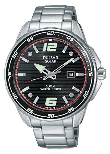 Pulsar Reloj Unisex de Analogico con Correa en Chapado en Acero Inoxidable PX3089X1