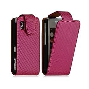 Housse coque etui Gaufré pour Samsung Player One S5230 couleur Rose Fushia