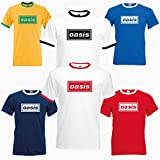 Indy Visuals Oasis Logo Supersonic Gallagher Noel Liam Brit Pop Beady Eye Ringer T-Shirt