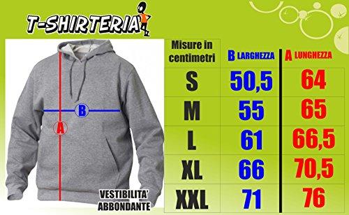 felpa con cappuccio - Alien ET - S M L XL XXL maglietta by tshirteria grigio