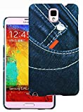 Heartly Jeans Style Printed Design High Quality Hard Bumper Back Case Cover For Samsung Galaxy Note 3 III N9000 N9005 - Small Button Pocket