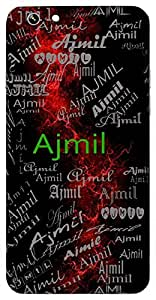 Ajmil (A Mythological King) Name & Sign Printed All over customize & Personalized!! Protective back cover for your Smart Phone : Xiaomi MI Max