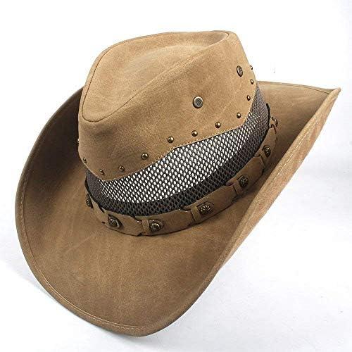 Cappelli Caldi per Le Donne, Cappello Cappello Cappello da Cowboy Western in Pelle da Uomo con Cappelli di Madrina e papà | Forma elegante  | Il colore è molto evidente  | Menu elegante e robusto  | Una Grande Varietà Di Prodotti  b87484