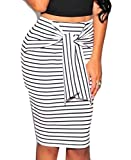 Search : Tootlessly-Women Comfy Casual Bodycon Stripe Strappy Pencil Hip Skirt