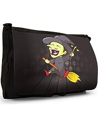 The Monsters Large Messenger Black Canvas Shoulder Bag - School   Laptop Bag e00048ad271e8