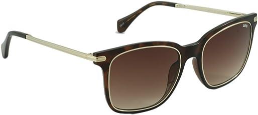IDEE Gradient Square Unisex Sunglasses - (IDS2313C3SG|53|Brown Gradient Color)