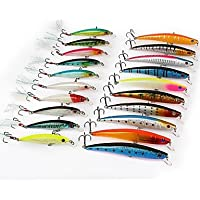 TY 20pcs/lot Mixed Minnow señuelos de pesca Bass Crankbait Tackle 8,6 cm, 11,5 cm)