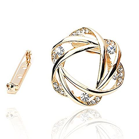 Fajewellery Broche Foulard Swarovski Elements Cristal Echarpe Bague Plaqu¨¦ or