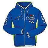 SUZUKI MotoGP Ecstar Team Jacke Kapuzen Sweatshirt ZIPPER Hoodie blau neon gelb