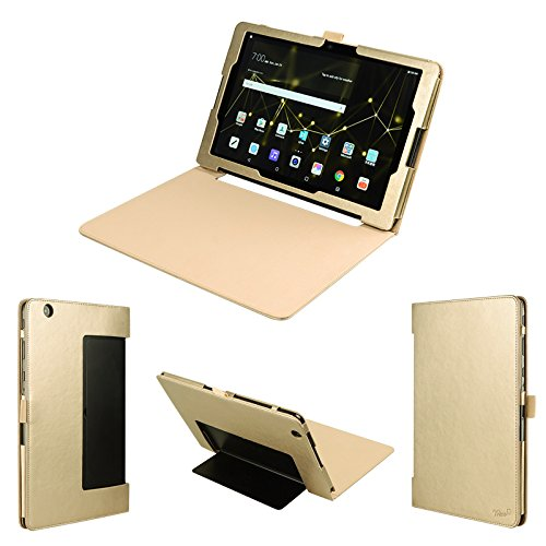 wisers LG G Pad X II 10.1 UK750, G Pad III 10.1 10,1 Zoll Tablet Case/Cover, Gold