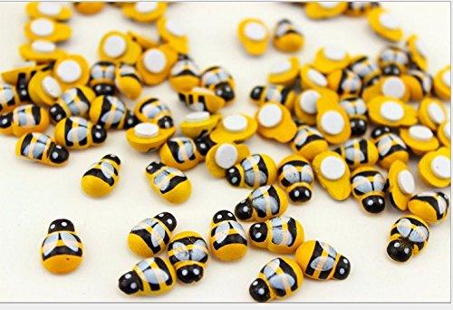 nalmatoionme Creative Holz Bumble Bee Selbstklebende Mini Bienen Holz Craft Karte (Bumble Bee-home)