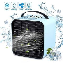 Janolia Mini Raffreddatore d'Aria, USB Condizionatore Portatile, Ventilatore Senza Rumore, Raffreddamento con Ioni…