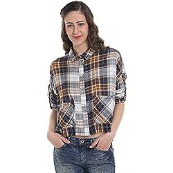 ONLY Women's Button Down Shirt (15147317_Cloud Dancer_40)