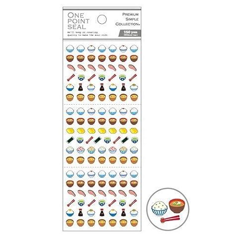 Niedliche Reisschüssel Stäbchen Essen Mini-Sticker von Mind Wave