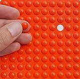 Kleine orange 3m Gummifüße, ~ 8mm Dia X 2mm Höhe ~ selbstklebend anti-slam Möbel Einheit Tür Bildschirmschutzfolien, farblos
