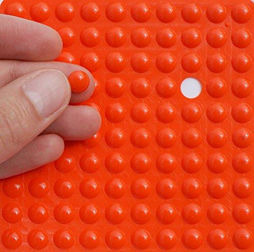 8 mm 20 x Séquoia perles de verre ROSE-ORANGE; * 1579 rodé Perles