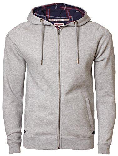 Thread bare felpa con cappuccio da uomo sweat-shirt con cappuccio DMS 042 grau marl