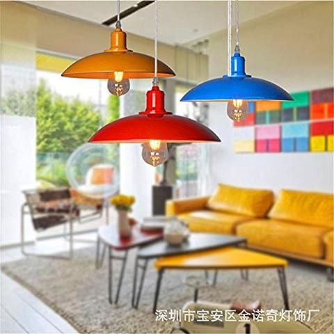 Loft Vintage industrielle Fenghuang Farbe Kronleuchter Restaurant Café Wein Fach Ventildeckel Lampe / Durchmesser 32 cm, blau