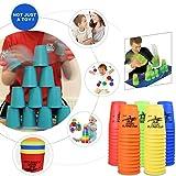 HLHN 12 Pcs Speed Stacks Sport Stacking-Set Tassen Stapeln Sport Geschwindigkeit Spielzeug