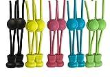 scarlet sport | Schnürsenkel »Premium« 5 Paar (10 Stück je 120 cm) Flex-Schnürsenkel; elastisch; mit Schnellverschluss; Schnellschnürsystem; ultraschnell & einfach