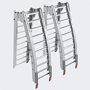 2x folding loading ramp scooter ramp ATV Quad portable steel 84x12 inches 1400lbs (212cm 630kg)