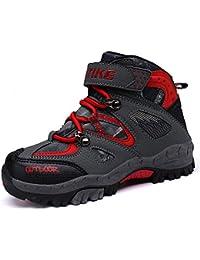 Zapatos de Algodón Botas para la Nieve Botas de Invierno para Niños Botas de Senderismo Cálido Forro Botas de Montaña Deportiva Cómoda Niño al Aire Libre Senderismo Trekking Zapatos