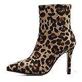 VECDY Damen Schuhe,Räumungsverkauf- Herbst Frauen Mode Frauen Verband Haut Hochhackigen Martin Sexy Dünne Stiefel Heels Martin Schuhe Strap Martin Stiefel High Heel Turnschuhe(Beige,37)